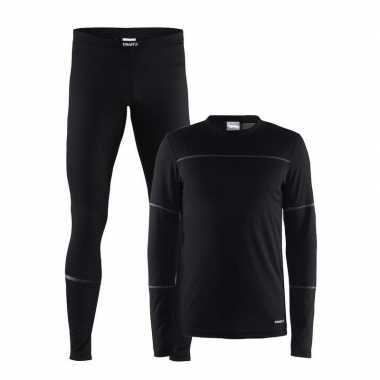 Craft sportkleding thermopak zwart mannen